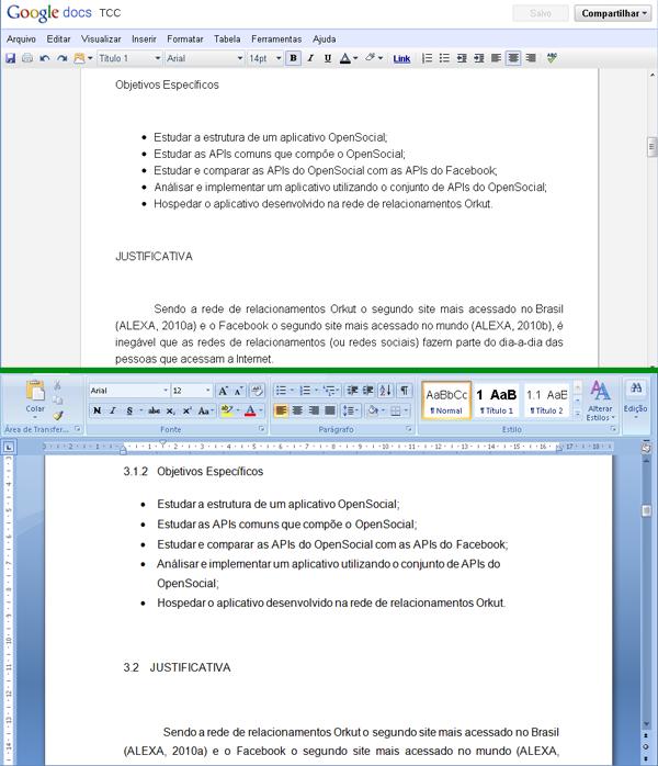 Google Docs x Microsoft Word