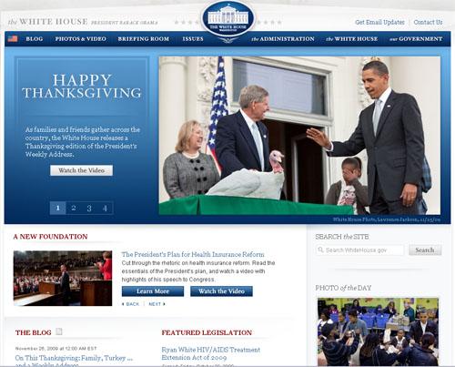 Site da Casa Branca